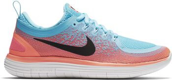 Nike Free RN Distance 2 hardloopschoenen Dames Blauw