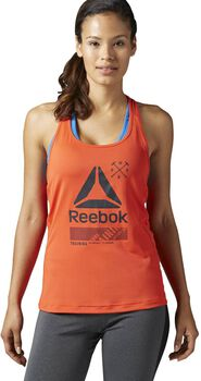 Reebok ACTIVchill Graphic top Dames Oranje