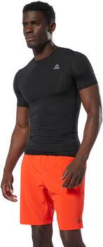Reebok WOR Logo Compressie T-Shirt Heren Zwart