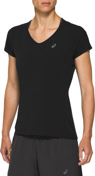 ASICS V-Neck shirt Dames Zwart