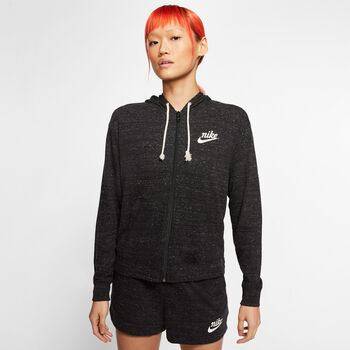 Nike Sportswear Gym Vintage hoodie Dames Zwart