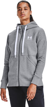 Under Armour Rival Fleece Full Zip hoodie Dames Grijs