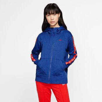 Nike Sportswear Logo Tape hoodie Dames Blauw