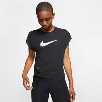 Nike Dry Side Tie top Dames Zwart