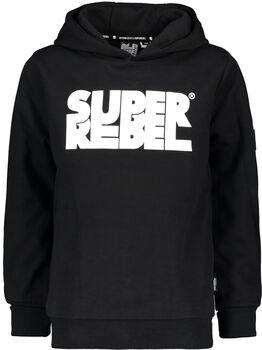 SUPERREBEL Flock kids hoodie Jongens Zwart