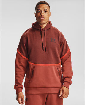 Under Armour Rival Fleece AMP hoodie Heren Rood
