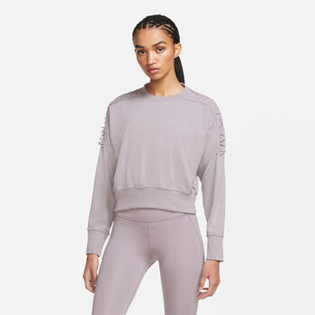 Nike Therma Cropped sweater Dames Roze