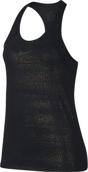 Nike Pro Metallic Dots top Dames Zwart
