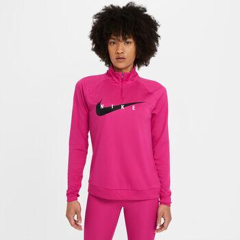 Nike Swoosh Run sweater Dames Rood