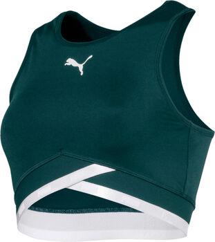 Puma Soft Sport Crop top Dames Groen