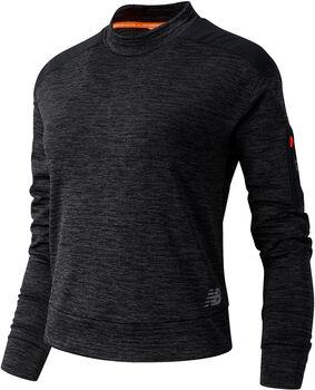 New Balance Heat Grid Long Sleeve shirt Dames Grijs
