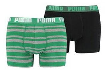 Puma Heritage Stripe boxer (2 paar) Heren Groen