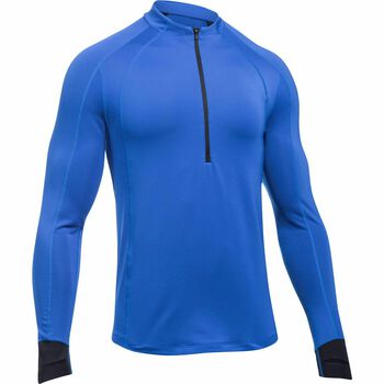 Under Armour Reactor Run Half Zip shirt Heren Blauw