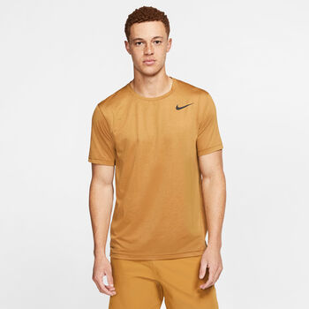 Nike Pro shirt Heren Geel