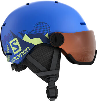 Salomon Grom Visor kids skihelm Heren Blauw