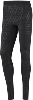 Reebok Hexawarm Reflective tight Heren Zwart