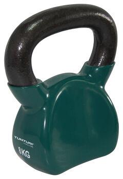 tunturi vinyl kettlebell 8kg, green Groen