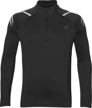 Asics Icon Winter 1/2 Zip longsleeve Heren Zwart