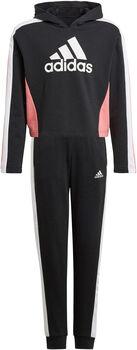 adidas Colorblock Crop Top Trainingspak Zwart