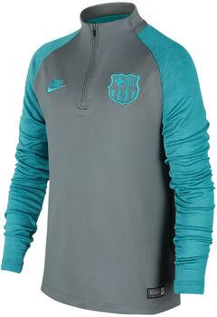Nike FC Barcolona Dry Strike Drill shirt Jongens Grijs