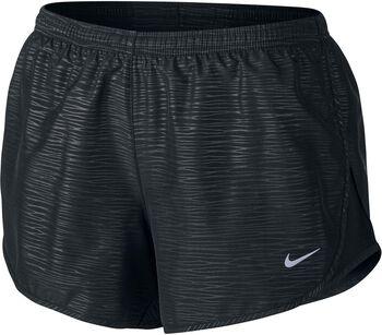 Nike modern embossed tempo short Dames Zwart