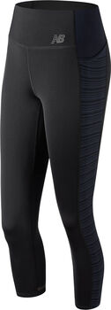 New Balance Q Speed Crop tight Dames Zwart