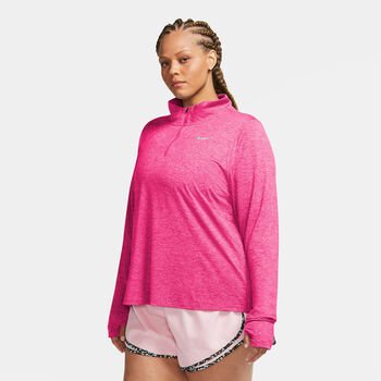 Nike Element 1/2-Zip hardloopshirt Dames Roze