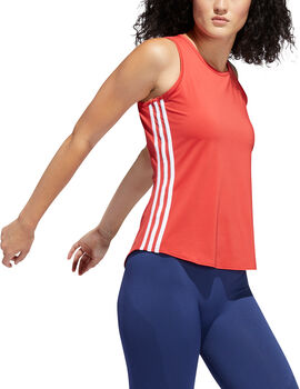 adidas 3-Stripes top Dames Rood