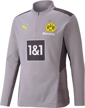 Puma Borussia Dortmund 1/4-Zip trainingstop 21/22 Heren Grijs