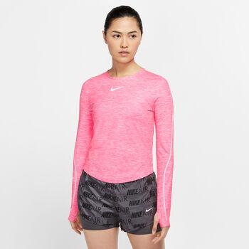 Nike Running longsleeve Dames Rood
