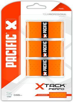 Pacific X Tack Perfo 0.55mm tennis overgrip Oranje