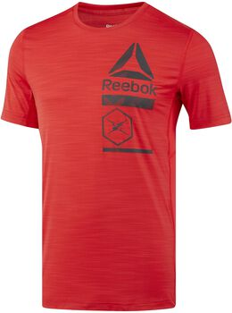 Reebok Active Chill Zoned Graphic shirt Heren Rood