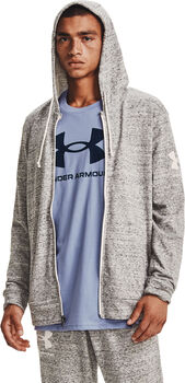 Under Armour Rival Terry Full-Zip hoodie Heren Wit