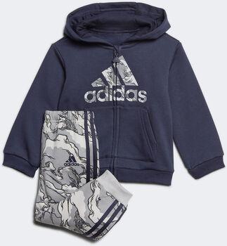 adidas Fleece Hooded Joggingpak Jongens Blauw