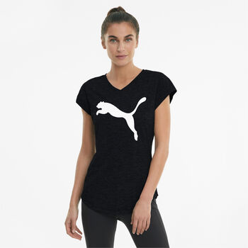 Puma Train Favorite Heather t-shirt Dames Zwart