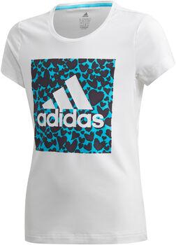 adidas AEROREADY Leo Graphic kids shirt  Meisjes Wit