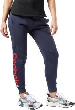 Reebok Training Essentials Linear Logo broek Dames Blauw