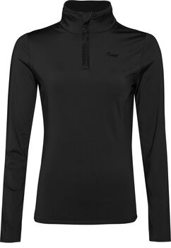 Protest Fabrizoy 1/4 Zip skipully Dames Zwart
