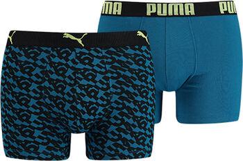 Puma Logo Aop boxer (2 paar) Heren Bruin