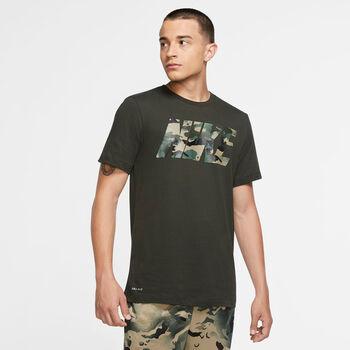 Nike Dri-FIT Camo trainingsshirt Heren Groen