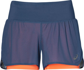 Asics Cool 2-in-1 short Dames Blauw