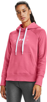 Under Armour Rival Fleece hoodie Dames Roze