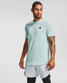 Under Armour RUSH™ Seamless Fitted t-shirt Heren Blauw