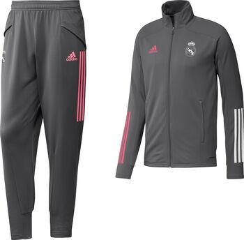 adidas Real Madrid trainingspak 20/21 Heren Grijs