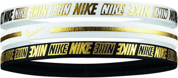 Nike Metallic 2.0 haarbandjes 3-pack Wit