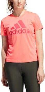adidas Badge of Sport Logo t-shirt Dames Rood