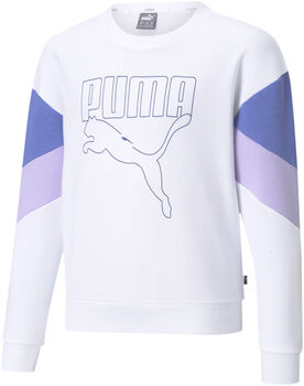 Puma Rebel Crew Sweat shirt Meisjes Wit