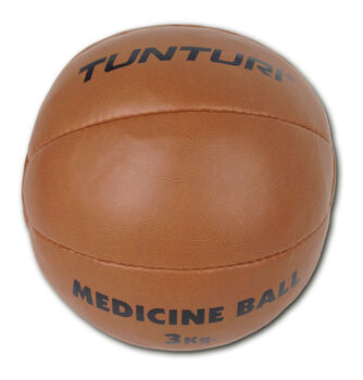 tunturi medicine ball synthetic leather 3kg Bruin