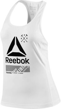 Reebok Activchill Graphic top Dames Ecru