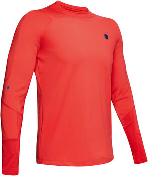 Under Armour CG Rush Mock longsleeve Heren Rood